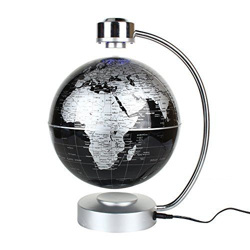 Buy Magnetic Levitation Floating World Map Globe, 8u0026quot; Rotating Planet  Earth Globe Ball With. Office DesksHome ...