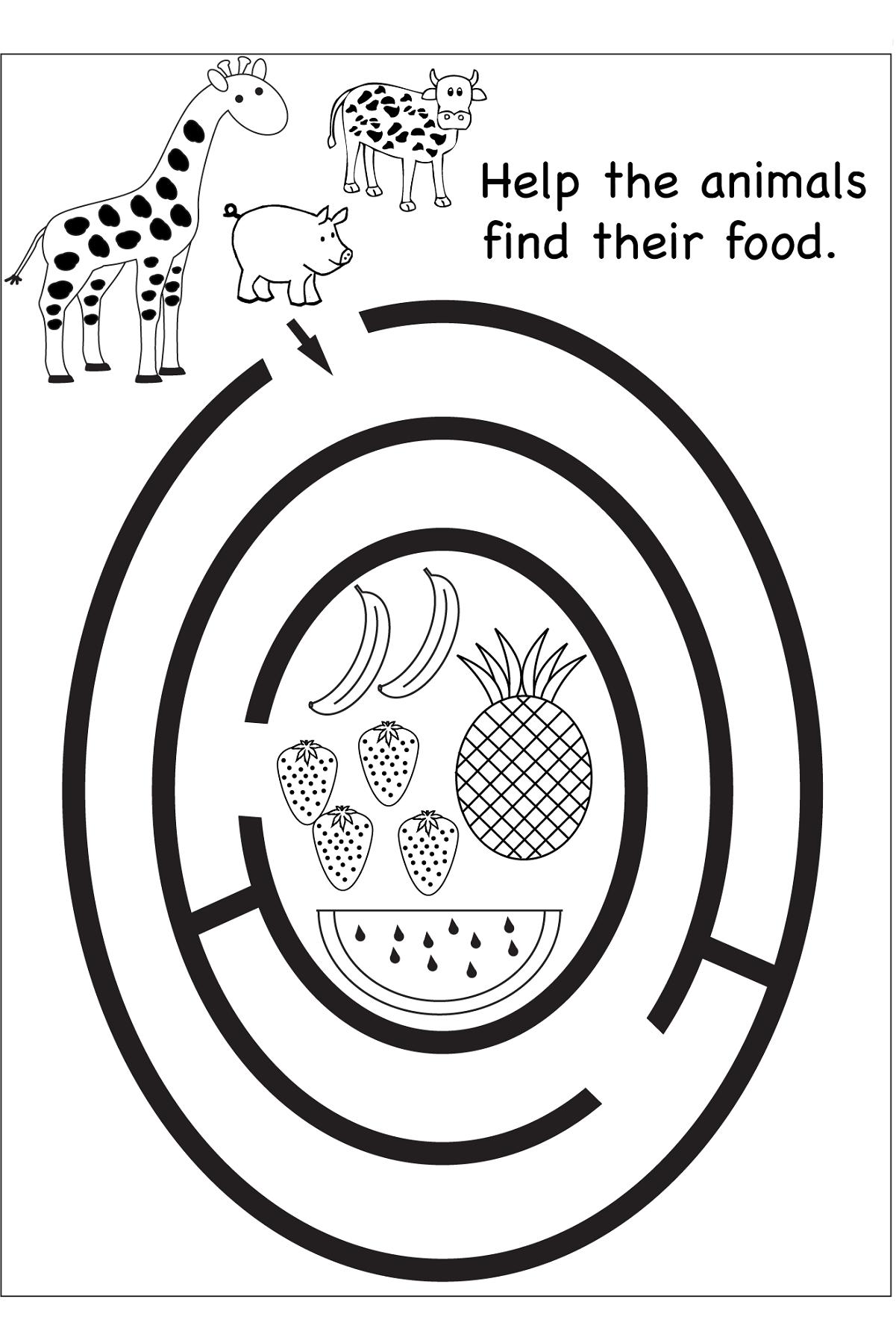 Free Maze Worksheets Printable