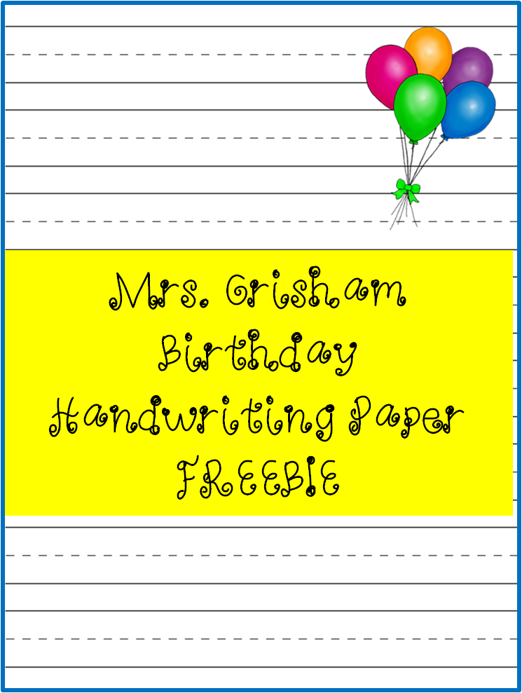 Happy Birthday Letter Writing Paper FREEBIE Birthday