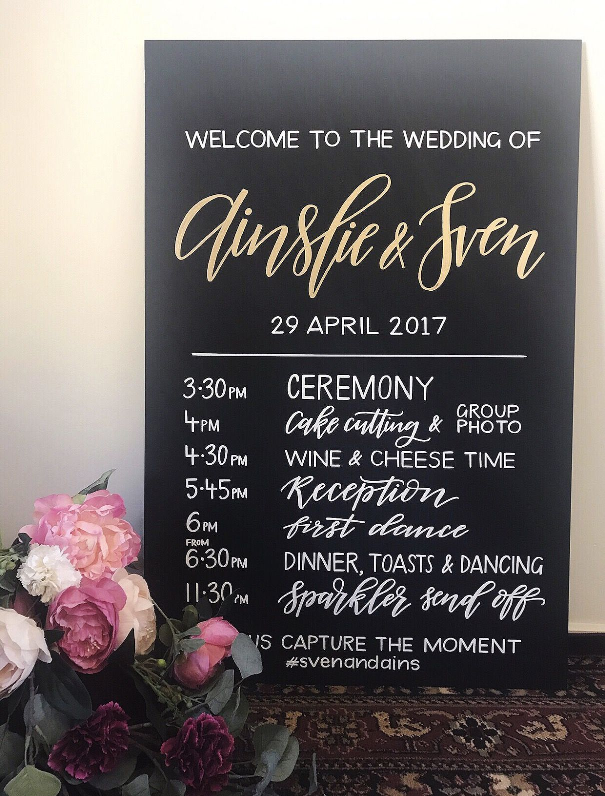Willow Ink Sign Wedding Program Of Events Order Of The Day Sign Wedding Sign Weddi Order Of Wedding Ceremony Wedding Order Of Events Wedding Program Sign