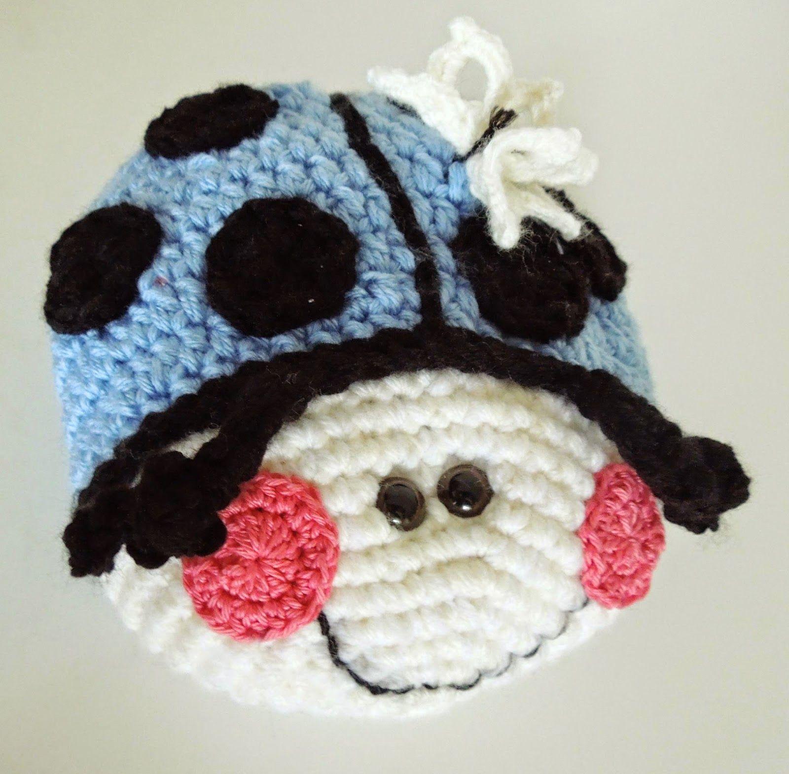 Fräulein Butterblume Glückskäfer Kostenlose Häkelanleitung Crochet