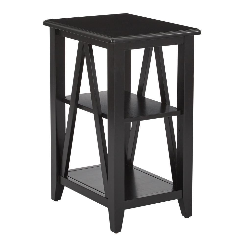 new concept fae0f 8b027 OSP Home Furnishings Black Santa Cruz Small Side Table ...
