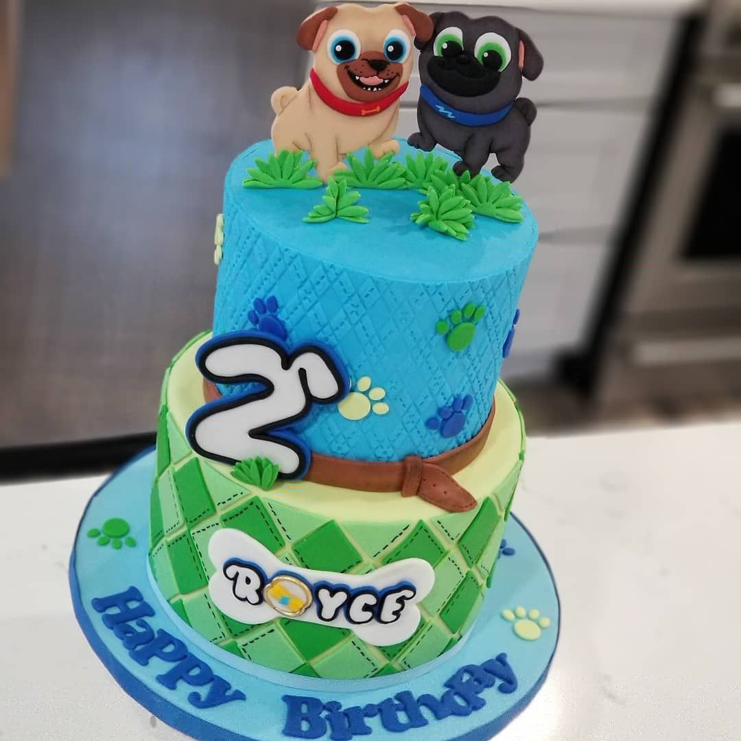 Disney Jr Puppy Dog Pals Cake Puppy Birthday Parties Disney
