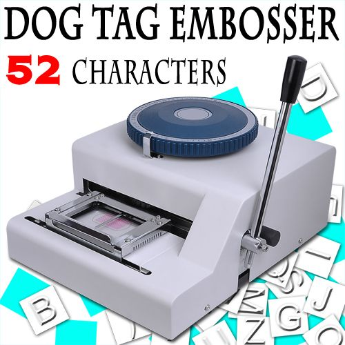 Manual Steel Dog Tag Embosser ID Card Military Embossing