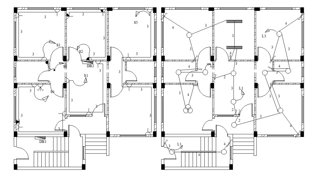 Home Electrical Plan Design AutoCAD File in 2020