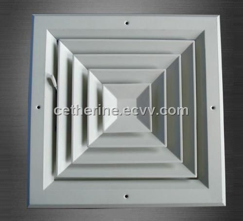 Squate Air Diffuser With Damper Air Diffusers Ceiling Diffuser Hvac Ventilation