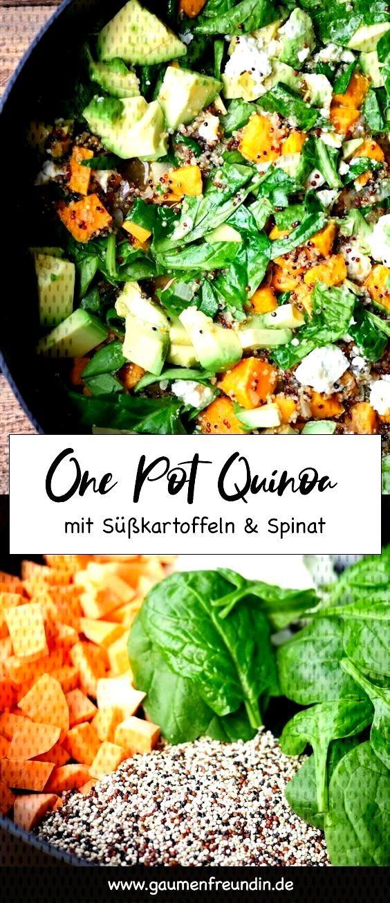 Enthlt Werbung. One Pot Quinoa mit Spinat und Skartoffeln - Gaumenfreundin Foodblog