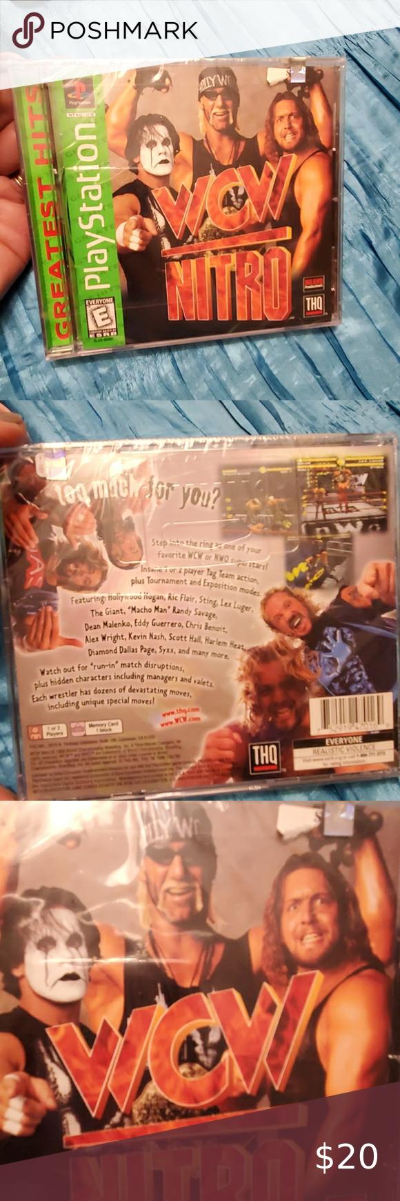 Playstation Wcw Nitro Game Nitro Game Nitro Playstation