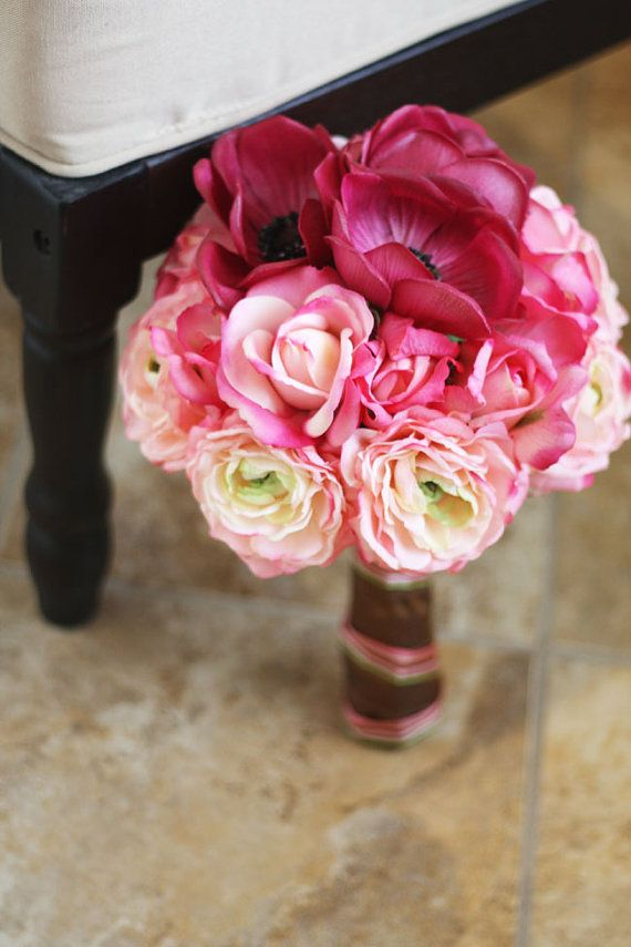Pink Ombre Wedding Bouquet