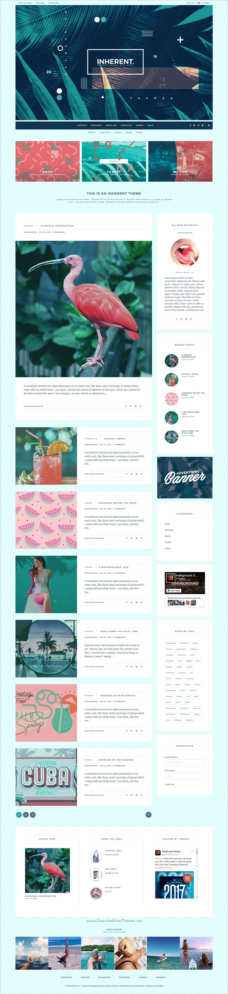 Inherent is a versatile and contemporary 3in1 #WordPress template for #webdev creative #blogger and shop websites download now➩ https://themeforest.net/item/inherent-creative-wordpress-blog-shop-theme/17781267?ref=Datasata