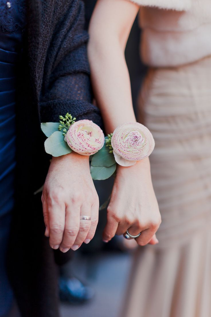 Ranunculus Wrist Corsage Pinned By Afloral From Style Me Pretty