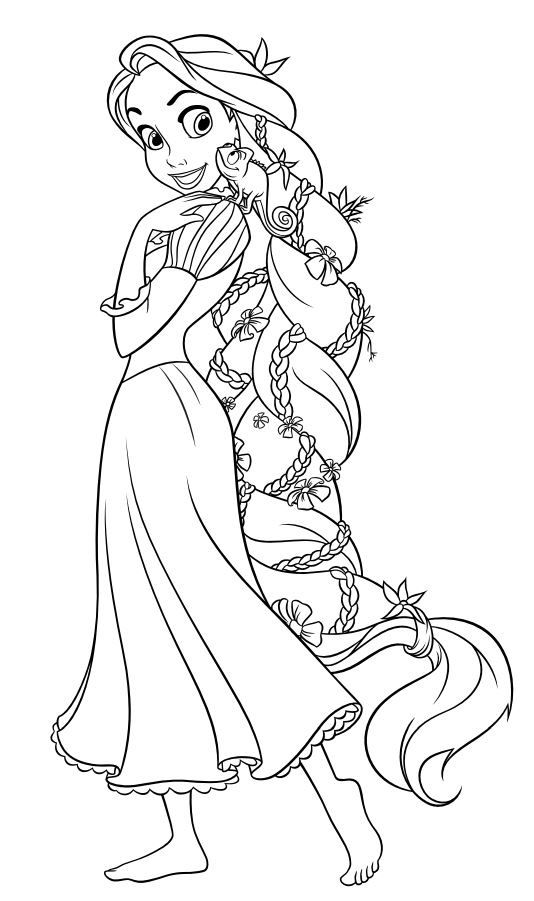 Colori Ge Rapunzel Coloring Pages Tangled Coloring