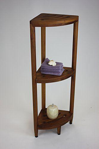 The Original Kai Corner Teak Bath Shelf - Teak-Shower-Bench | Teak ...