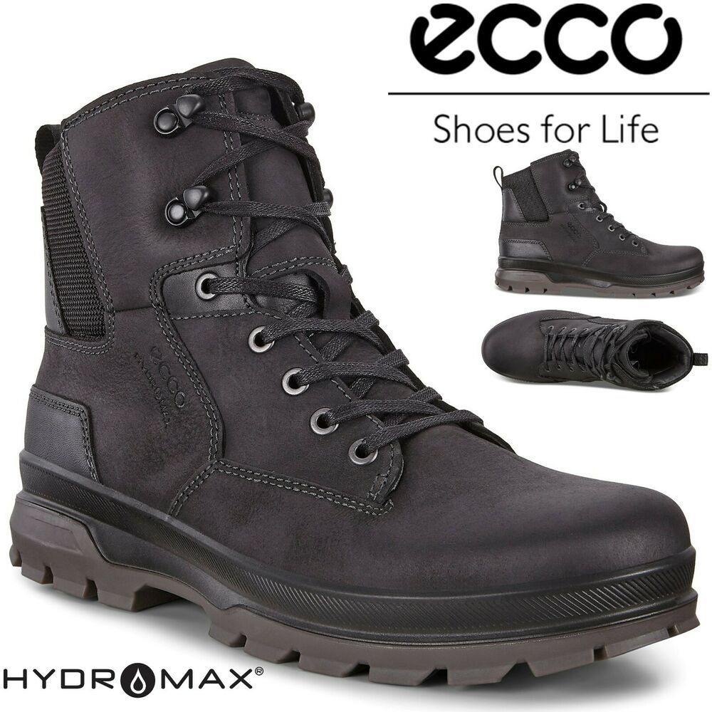 Ecco Rugged Track Gore Tex Full Grain Leather Outdoor All Terrain Hiking Boots Ecco Hikingtrail Mens Boots Fashion Ankle Boots Men Boots Men