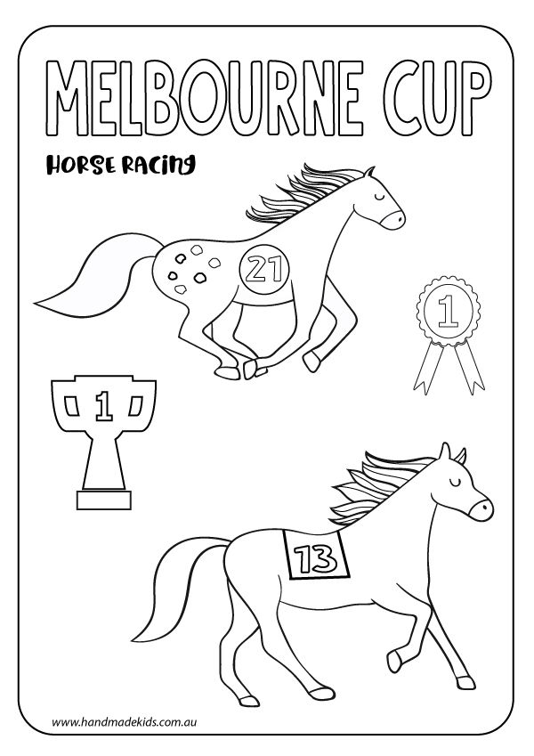 Kids Craft Free Melbourne Cup Printable Melbourne Cup Cup