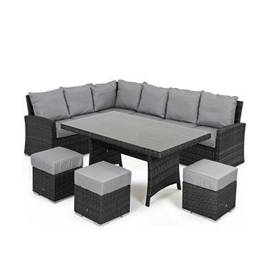 Debenhams Grey rattan-effect \'LA Kingston\' corner garden dining unit ...