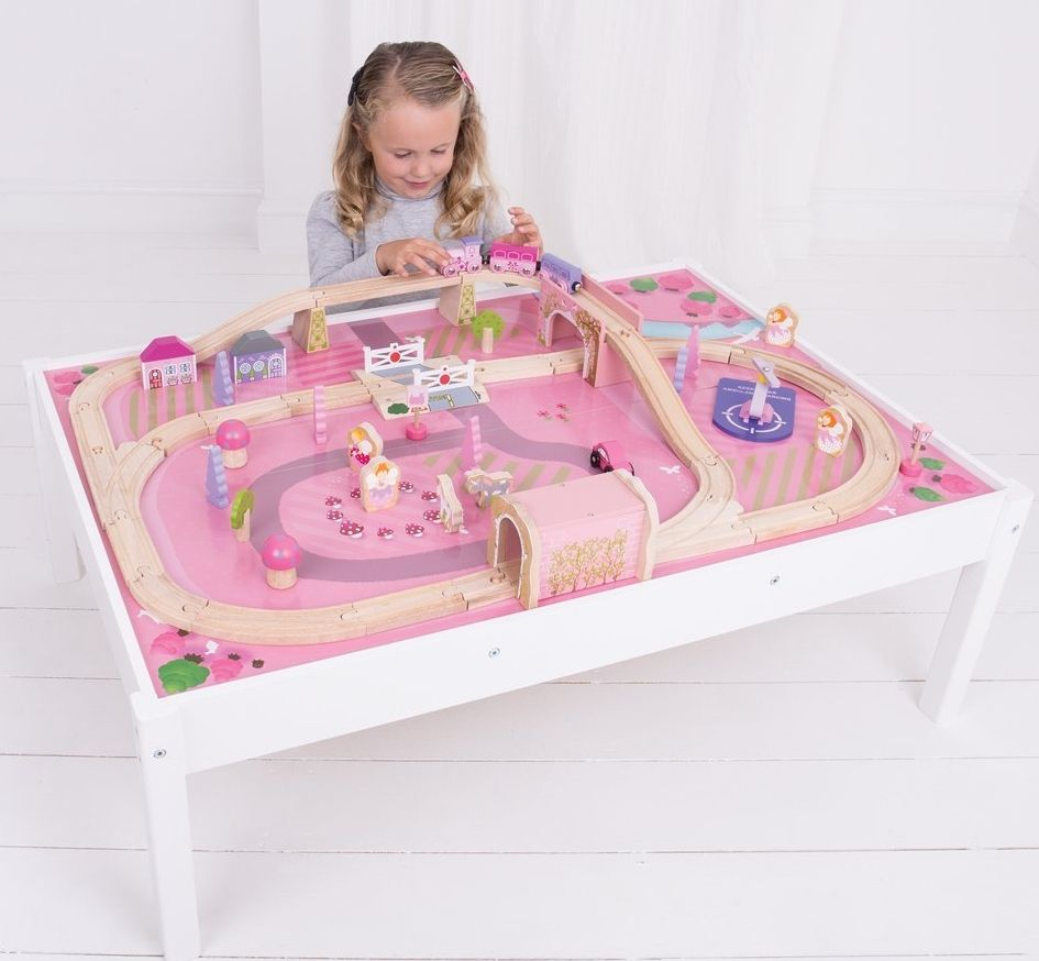 Bigjigs Rail Magical Wooden Train Set and Table | Toys | Pinterest ...