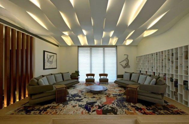 Salon design en 70 id es supers d 39 am nagement et for Idee plafond salon