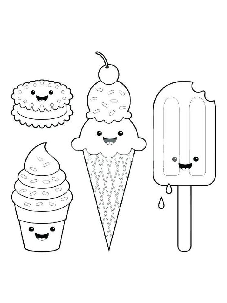 Ice Cream Coloring Pages For Free Download Ice Cream Coloring Pages Cupcake Coloring Pages Free Coloring Pages