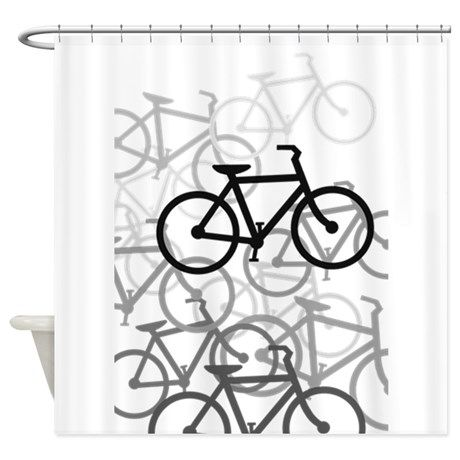 Bikes Shower Curtain By Impact Cafepress Shower Curtain Designer Shower Curtains Shower