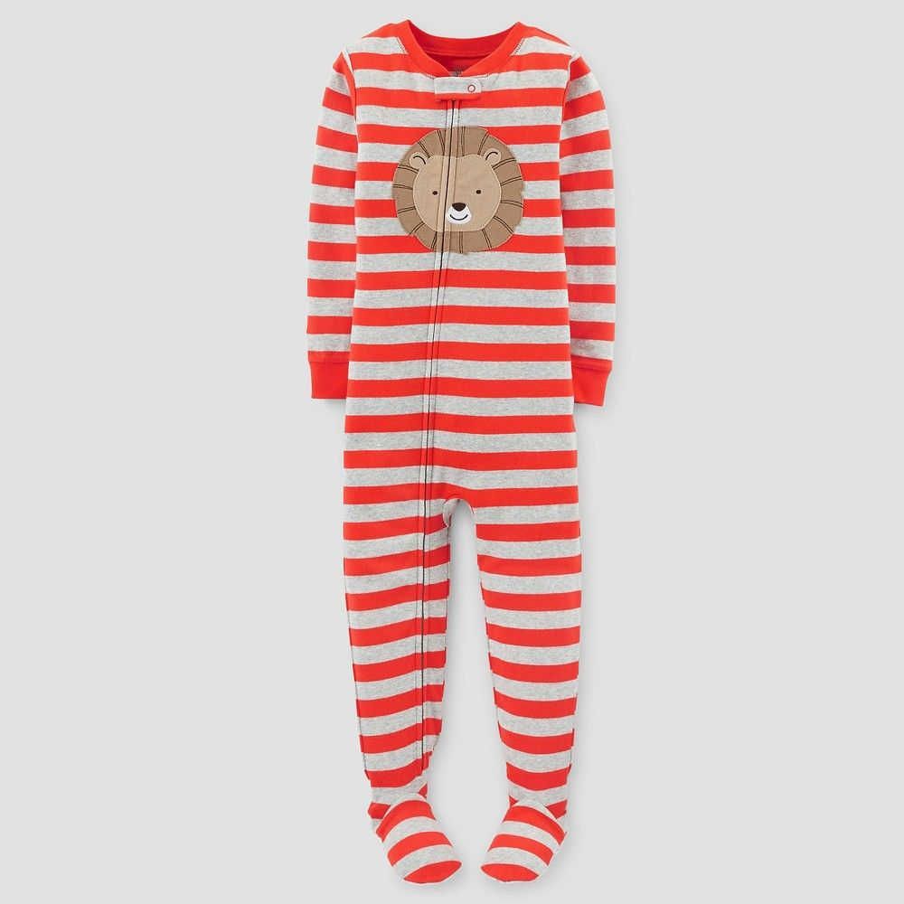 44cb1a506f04 Baby Boys  One-Piece Snug Fit Cotton Pajama Lion 12M - Just One You ...