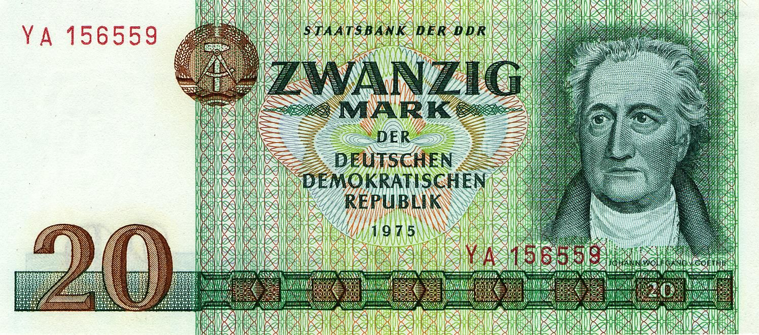 Banknoten 20 mark Ddr geld, Ddr, Deutsche mark