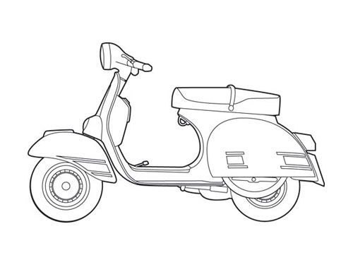 Vespa Rally 200 Illustration Perfect For Planning Out Potential