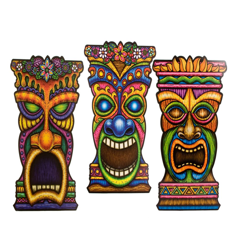 Shop for tiki cutout decorations cutouts plus tons of for Tiki hawaiano