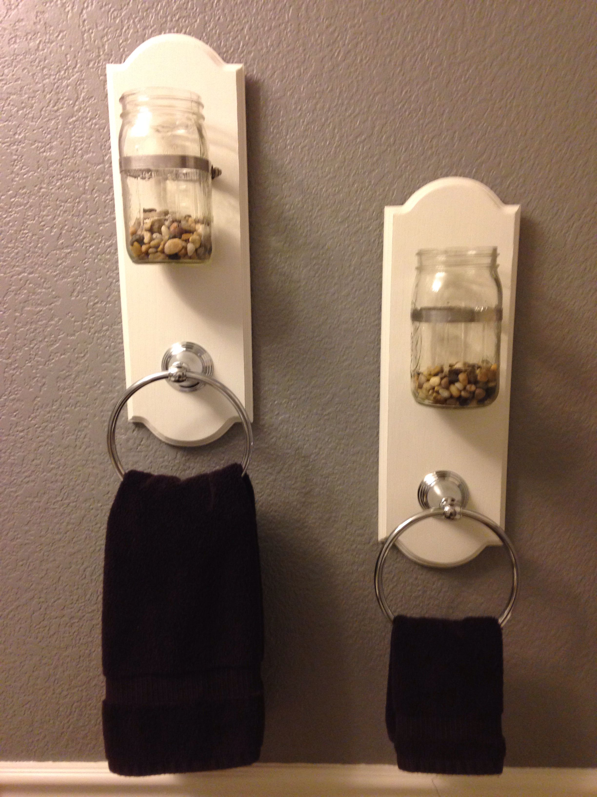Mason jar sconce using hose clamps! Multipurpose with