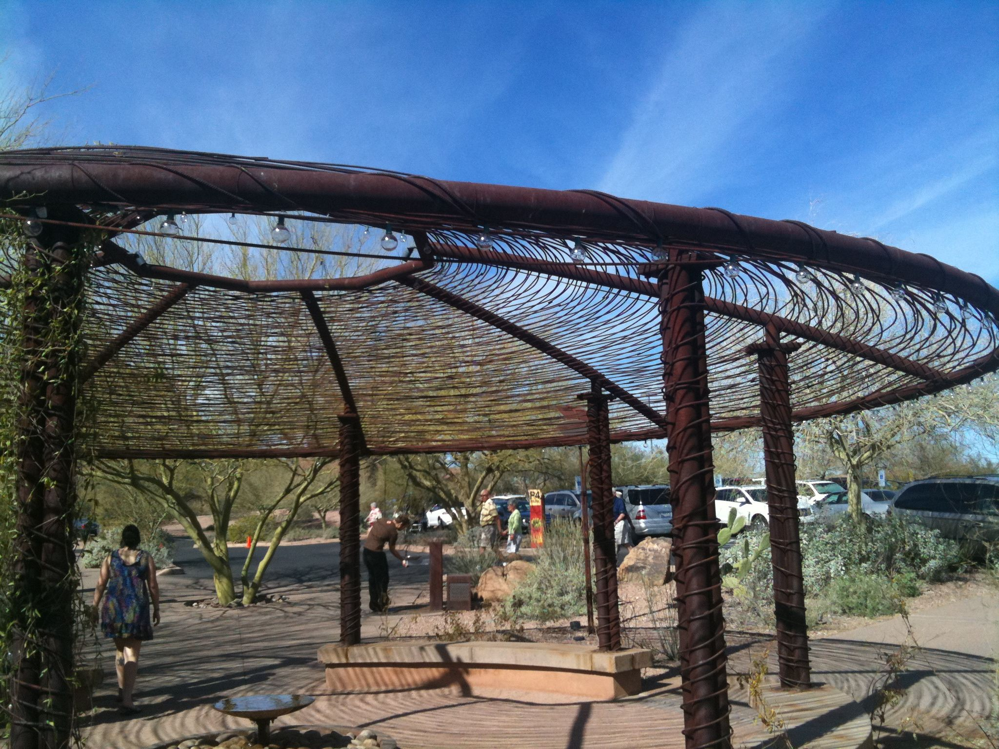 Rebar shade structure outdoor spaces pinterest for Shade structures