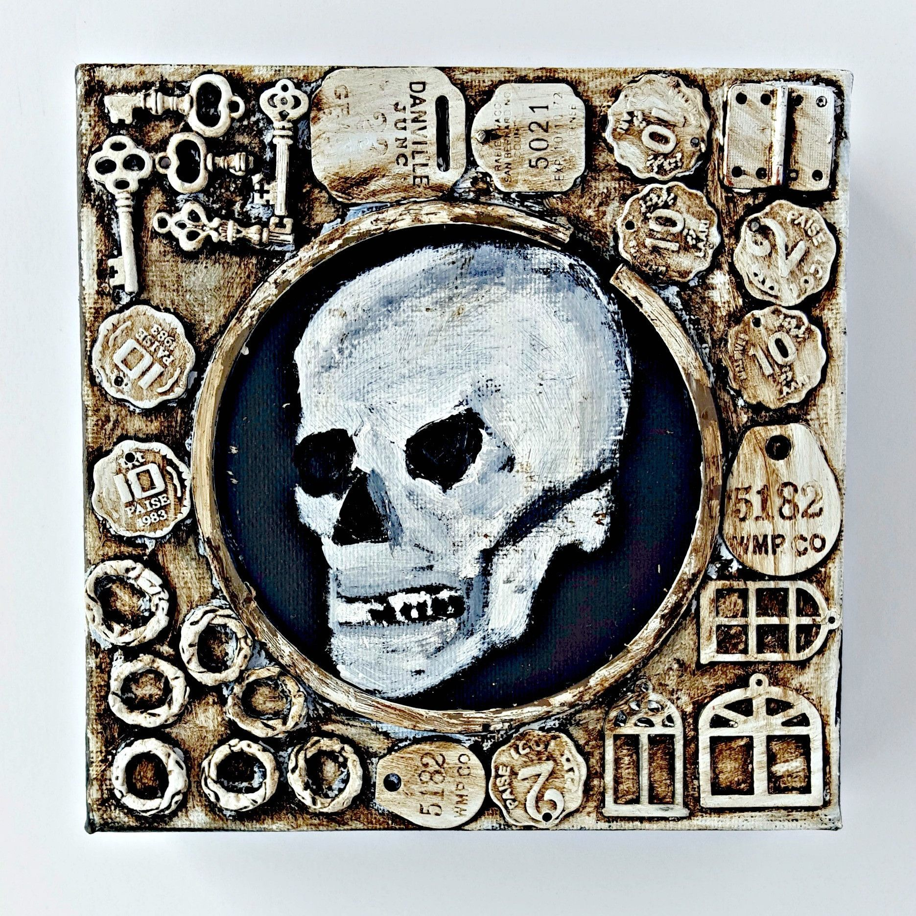 Human Skull in Scrap Metal Frame | Products | Pinterest | Human ...
