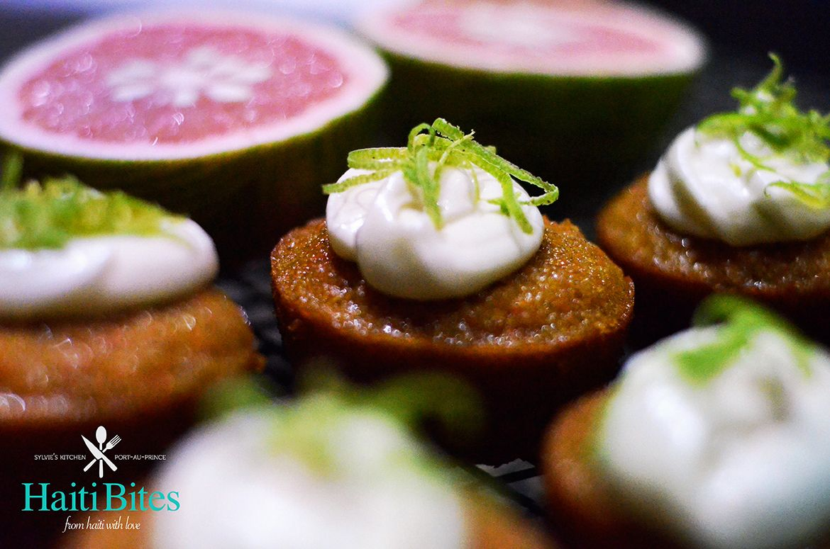 Carrot rapadou cup cake with pamplemousse cream cheese