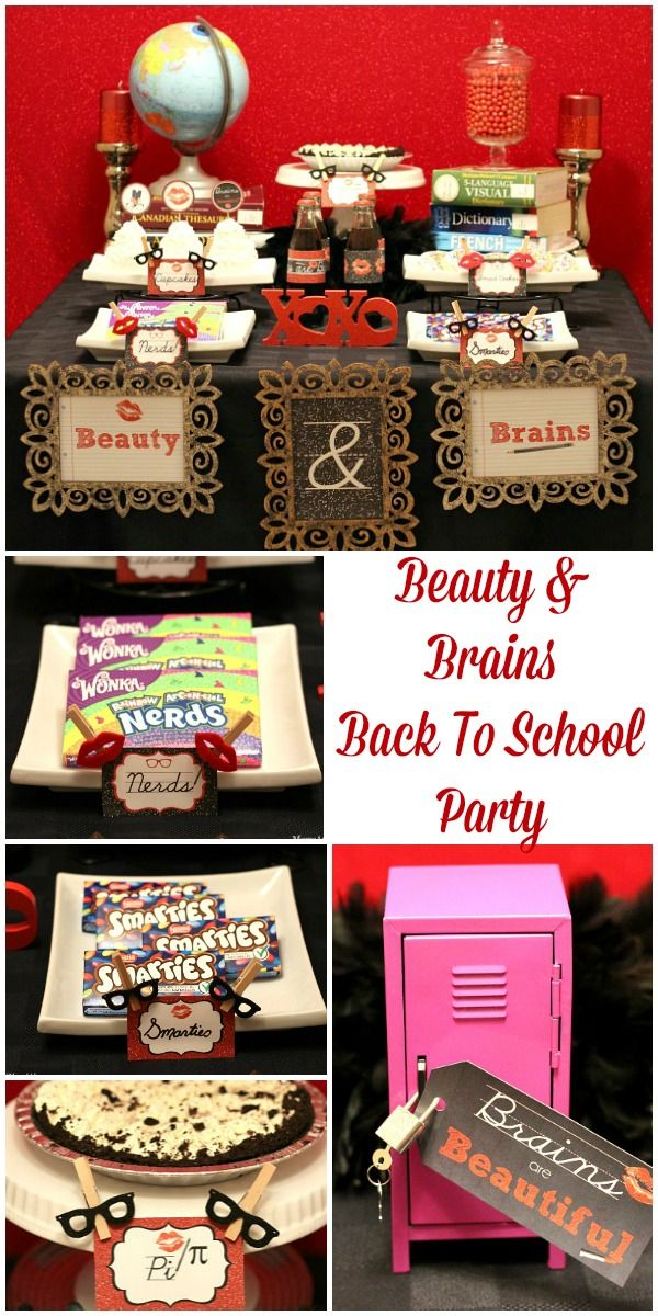 Beauty & Brains Back To School Party #BackToSchool http://www.momsandmunchkins.ca/2014/08/02/beauty-brains-back-to-school/ #Party