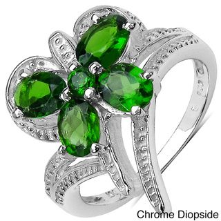 Malaika Sterling Silver Chrome Diopside or Multi-gemstone Ring | Overstock.com Shopping - Top Rated Malaika Gemstone Rings