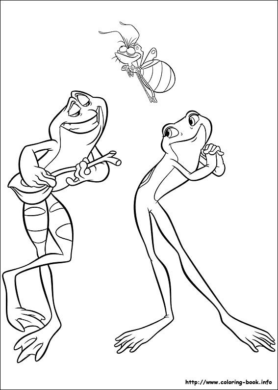 The Princess and the Frog coloring picture Coloring Pages Disney
