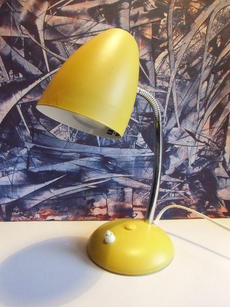 Schreibtisch Lampe Gelb Von Susduett Auf Dawanda Com Vintage Lampen Schreibtischlampe Dekorative Lampen