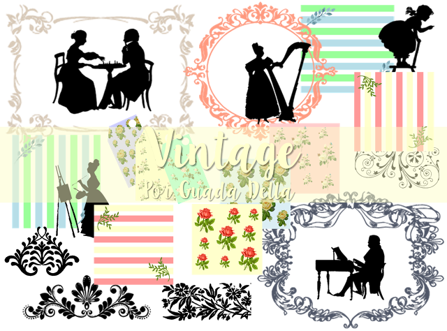 Fondos Gratis Kit De Imagenes Png Estilo Vintage