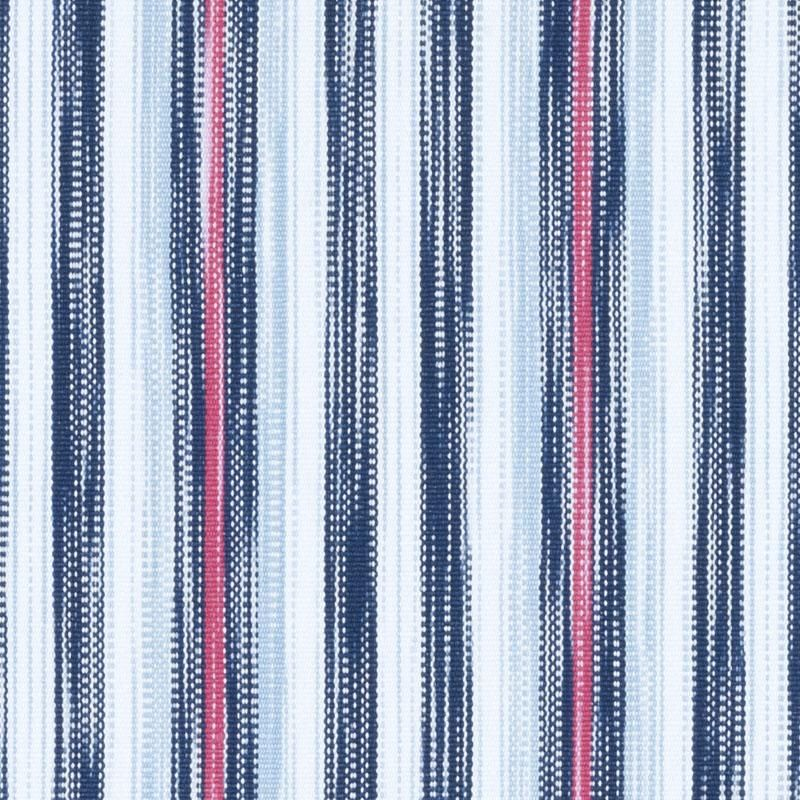 Navy Blue Pink Woven Striped Upholstery Fabric - Light Blue White ...
