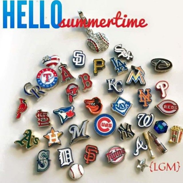 New Summer MLB Licensed Charms! All Teams Available. Show Your Team Spirit! www.itispersonal.origamiowl.com