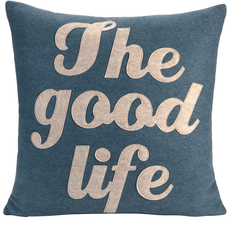 alexandra ferguson The Good Life Pillow  Applique Felt
