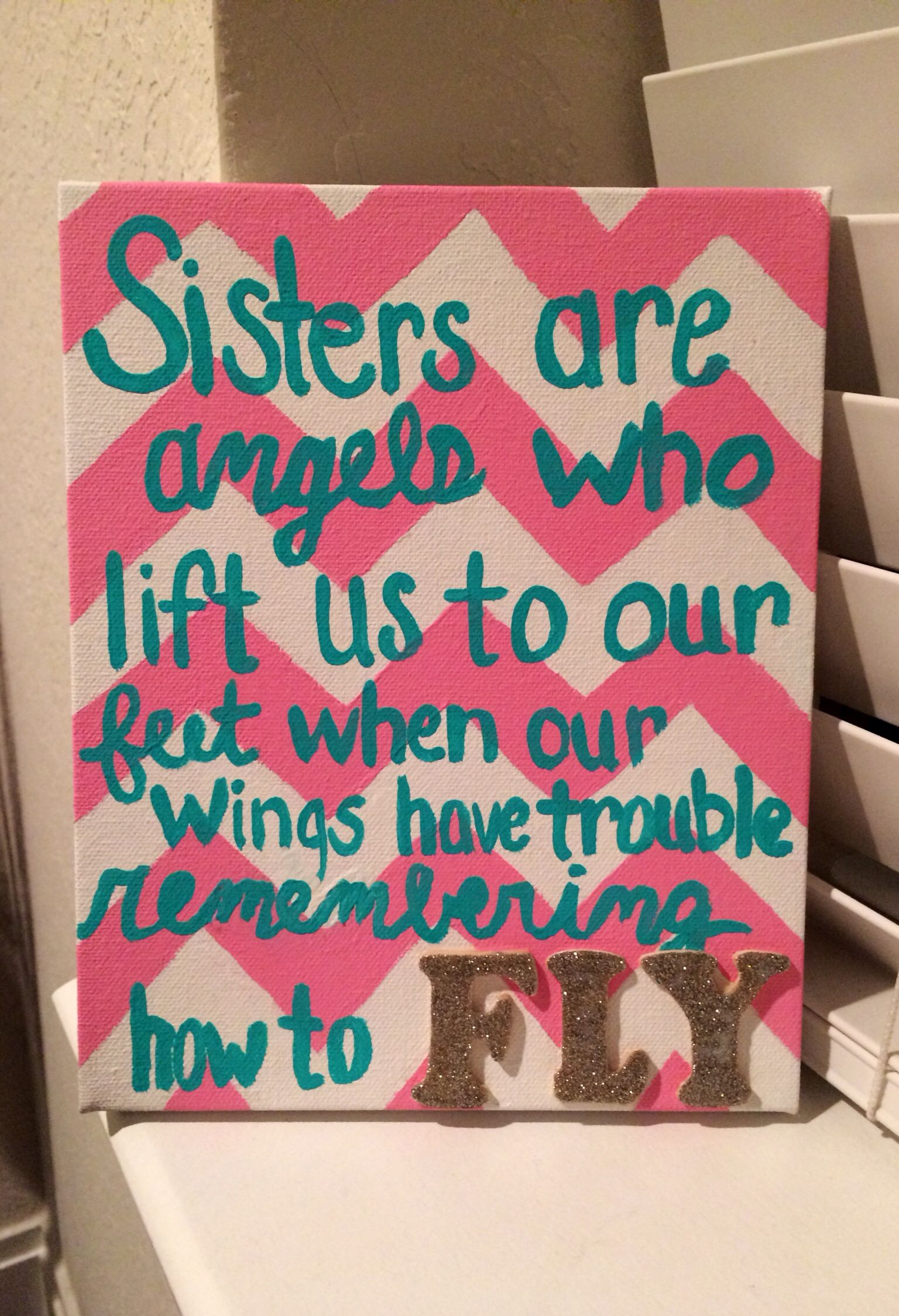 sorority gift for a sister or big to little sorority biglittle diy sisters