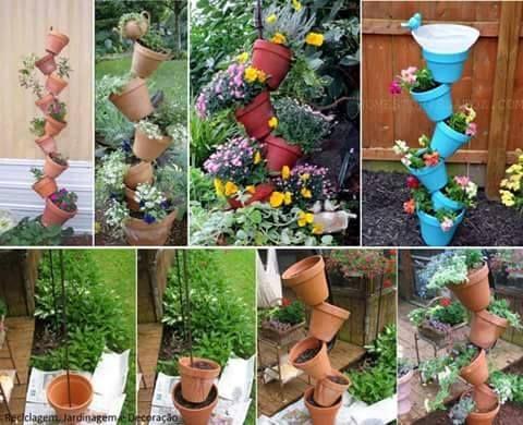 Fabriquez une charmante décoration florale avec vos pots en terre ...