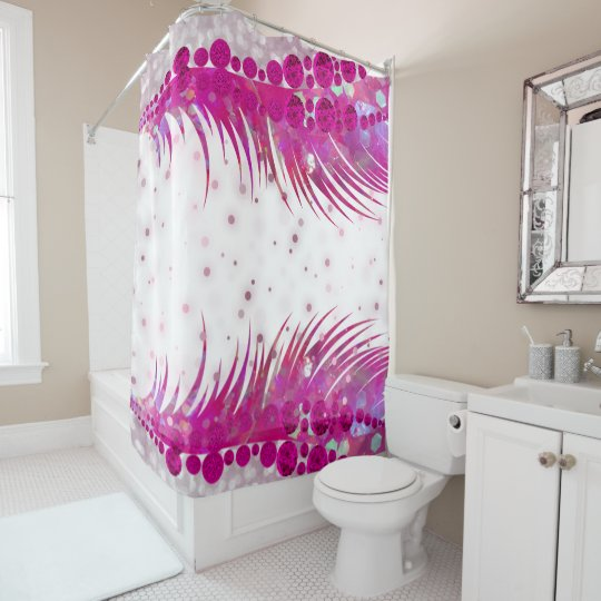 Pin On Luxury Pink Glitter Lash Bling Shower Curtain