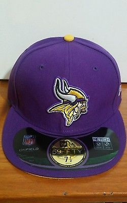 adf9b6139a5 New Era 59Fifty NFL Cap Minnesota Vikings Purple On Field Fitted 5950 Hat