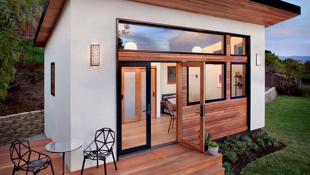 Gorgeous Tiny Prefab Home Flaunts Big Deck And Windows