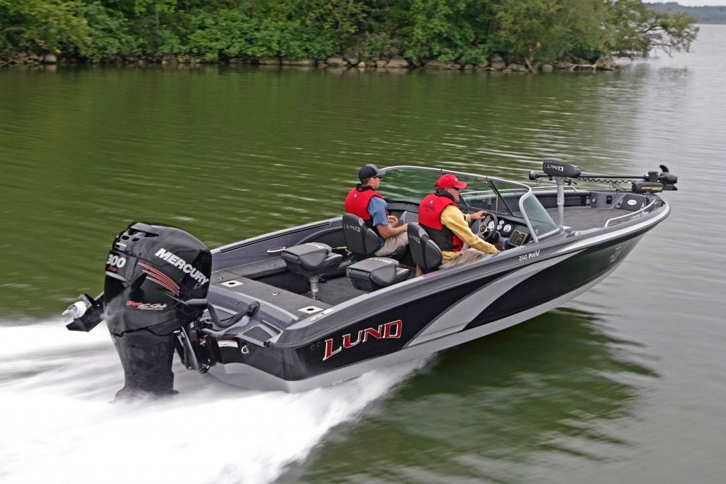 Lund 202 Pro V Gl 20 Foot Walleye Tournament Fishing Boat With