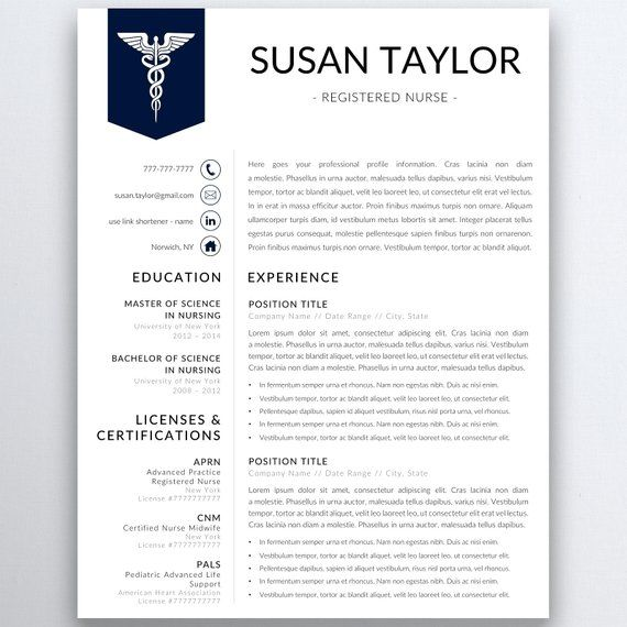 Advanced Practice Nurse Sample Resume Prepossessing Nurse Resume Template 5 Pages  Nursing Resume Template  Registered .