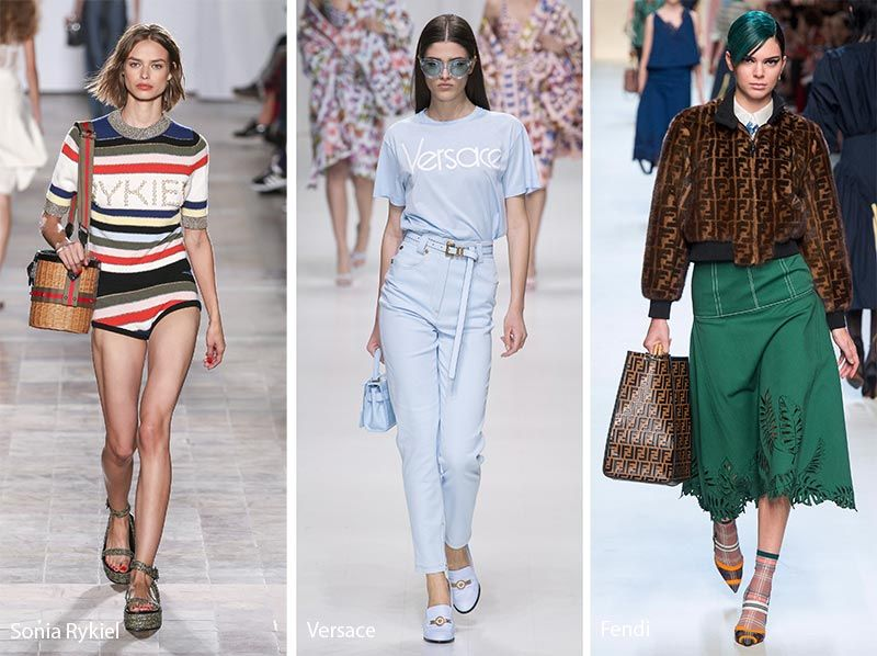 Spring/ Summer 2018 Fashion Trends Clothing with Logo Prints