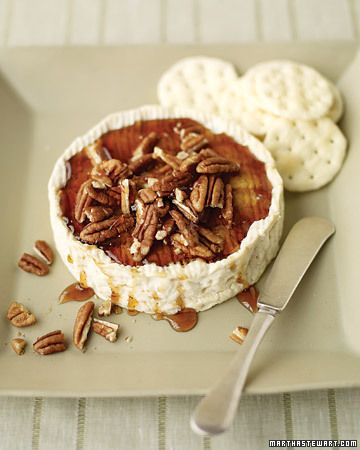 baked brie w/ pecans