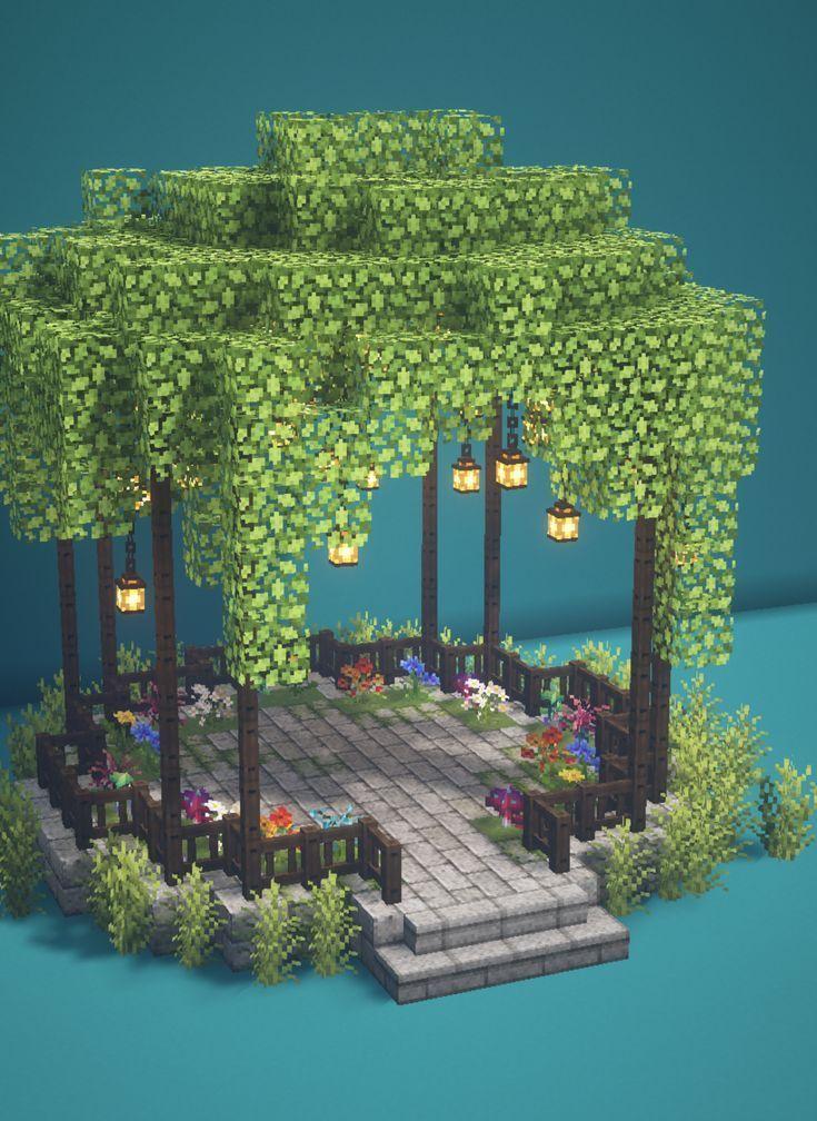 Minecraft Fairy Garden Gazebo 🍄🌿✨ Magical Fairy Ta